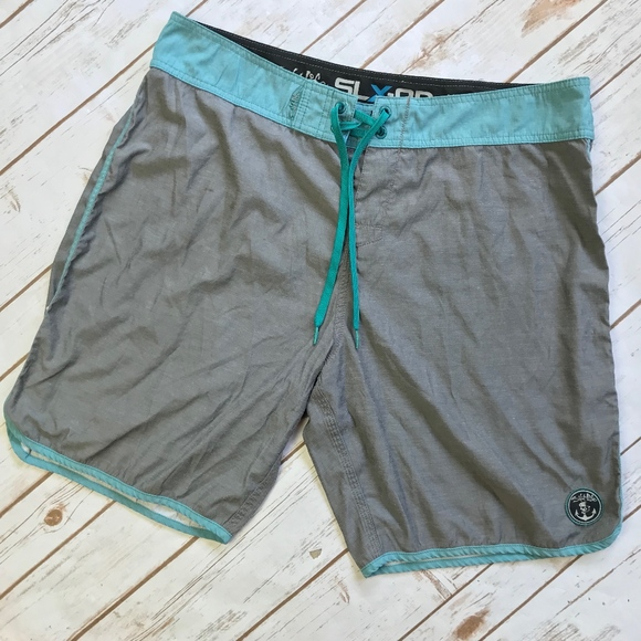 0d5708b863 Salt Life Swim | Slxqd Stretch Gray Aqua Board Shorts 36 | Poshmark